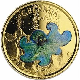 1 Unze oz Gold 2020 Grenada Octopus farbig