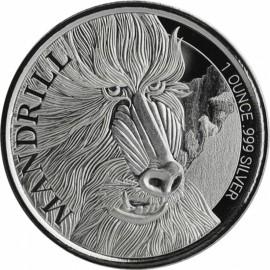 1 Unze Silber 2020 Kamerun Mandrill