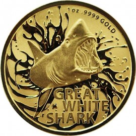 1 oz Unze Gold  Great White Shark 2021 RAM