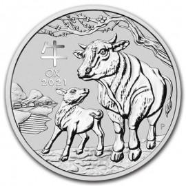 1 Unze  Silber Ochse Lunar III 2021