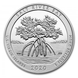 5 Unze Silber 2020 5 oz Silver ATB  Salt River Bay, U.S. Virgin Islands