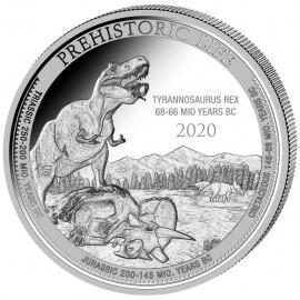 1 Unze Silber  T-Rex Kongo 2020
