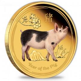 1 oz Gold Lunar II Schwein...