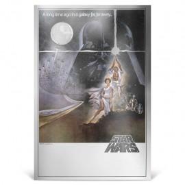 STAR WARS™ - Poster-Münznote - Eine neue Hoffnung™ (1.)   35 gr. Silber - Stempelglanz