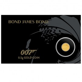 0,5 g Gold James Bond 007...