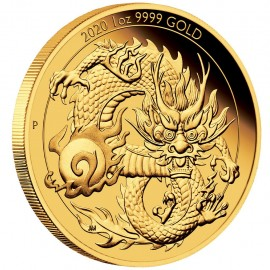 1 oz Unze Goldener  Dragon    Perth Mint 2020 PP