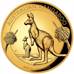 2 Unzen oz Gold 2020 AUD...