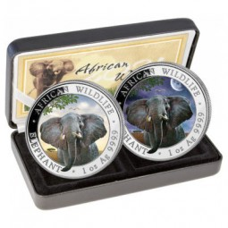 2 x 1oz Somalia Elefant Set...