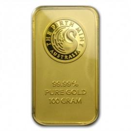 100 g Perth Mint Känguru Goldbarren
