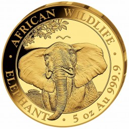 5 Unzen oz Gold Somalia...