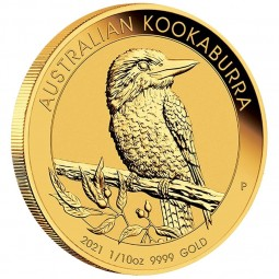 1/10 oz Kookaburra Gold 2021