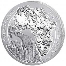 1 Unze Silber Ruanda Okapi...