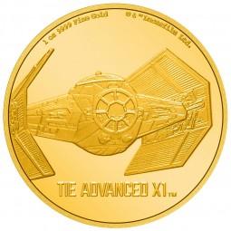 1 Unze oz Gold Star Wars...
