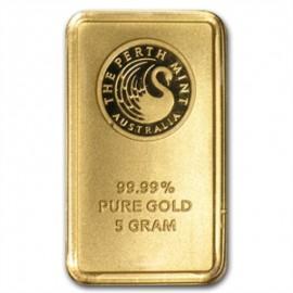 5 g Perth  Mint Känguru Goldbarren