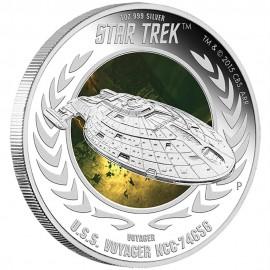 1 oz silver Star Trek U.S.S Voyager