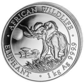 1 Kilo Silver Somalia Elefant 2016