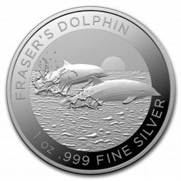 1 Unze Silber Fraser Delfin...