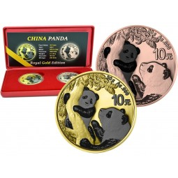 2 x  1 Unze Silber China...