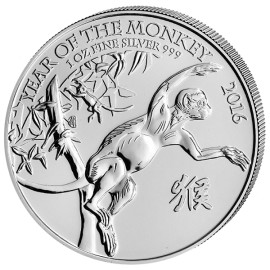1 oz Lunar UK  Monkey 2016