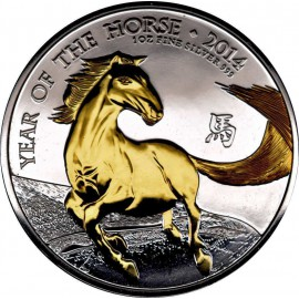 1 oz Lunar UK 2014 Pferd