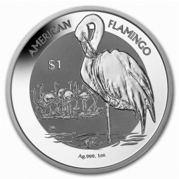 1 Unze Silber Flamingo 2021...