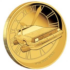 1/4 oz Zurück in die Zukunft DeLorean PP  Gold 2015 Perth Mint