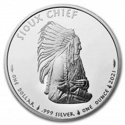 1 Unze Silber  Round Sioux...