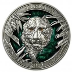 3 Unzen Silber  Tiger...