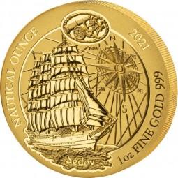 1 Unze oz Gold Nautical...