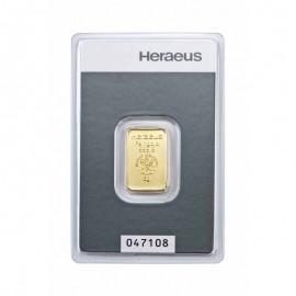 5 Gramm  gr Goldbarren Heraeus