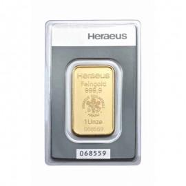 1 unze oz Goldbarren Heraeus