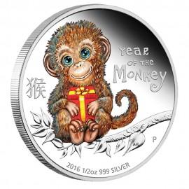 1/2 Unze Silber Baby Monkey Affe Perth Mint PP