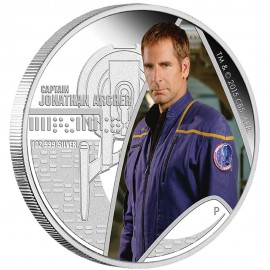 1 oz silver Star Trek Jonathan Archer
