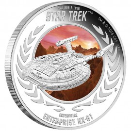 1 oz silver Star Trek Enterprise NX 01
