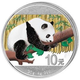 30 Gramm  China Silber Panda 2016 Coloriert