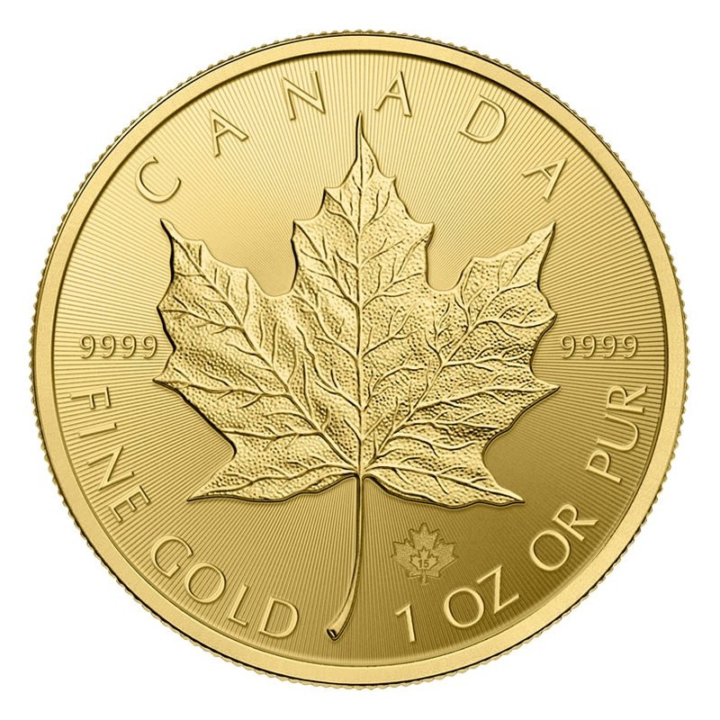 1 Unze Gold Maple Leaf 2018