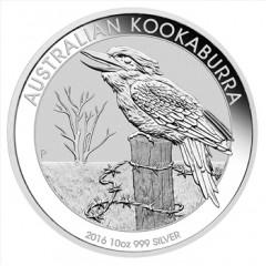 10 oz Silver Australien Kookaburra 2016