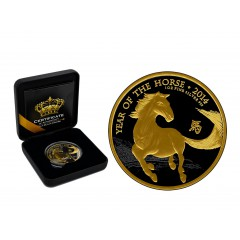 1 oz Lunar UK 2014 Pferd Gold Black Empire Edition