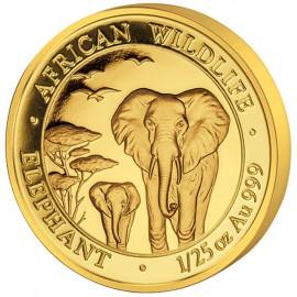 1/25 unze  oz Somalia Elefant Gold 2015 PP