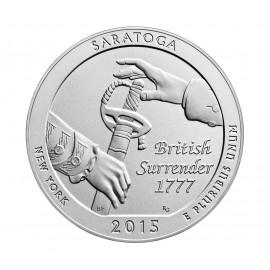 5 Unze Silber America The Beautiful 2015 Saratoga