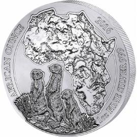 1 Unze Silber Ruanda Erdmännchen 2016